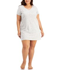 charter club the everyday cotton plus size sleep shirt, created for macy's