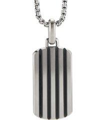 david yurman beveled tag enhancer pendant - silver