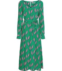 danira dress cactus green pink