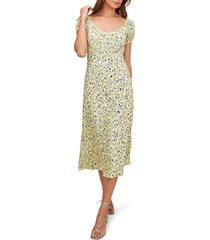 women's astr the label caprice floral midi dress