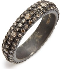 women's armenta old world eternity diamond stack ring