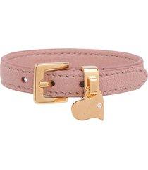 miu miu madras leather bracelet - pink