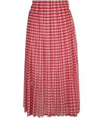 philosophy di lorenzo serafini checked long skirt