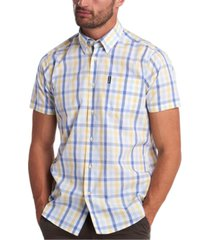 barbour men's tattersall check shirt