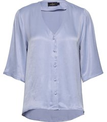 delia blouse blouses short-sleeved blauw morris lady