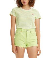 levi's women's striped perfect t-shirt