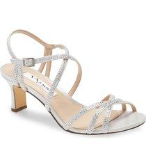 women's nina nettie strappy sandal, size 8.5 m - metallic