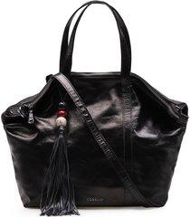 bolsa sacola feminina corello milena couro metalico corello bolsa sacola preto