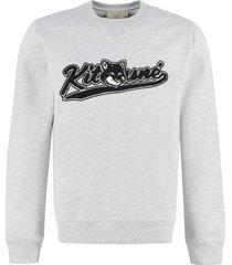 maison kitsuné logo detail cotton sweatshirt