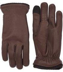men's hestra john sheepskin gloves, size large - brown