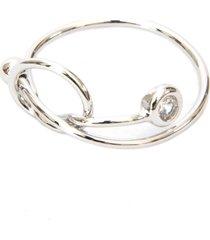 anel lovelee acessórios delicado zircônia ii prateado