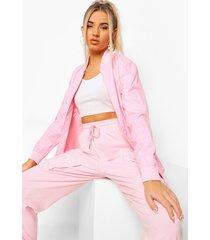 fit woman waterproof bomberjack, pink