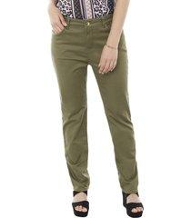 jeans color i verde oliva mujer corona