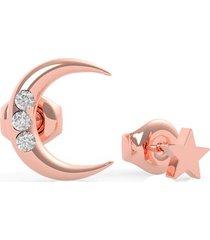 kolczyki w kształcie księżyca i gwiazdy model get lucky