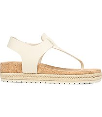 flint-2 leather espadrille thong sandals