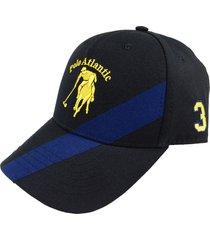 gorra cruzada negro/azul