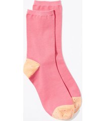 loft colorblock crew socks