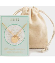 aries constellation necklace pouch - blue