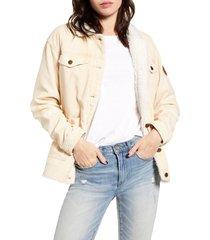 women's roxy bright night corduroy jacket, size large - ivory