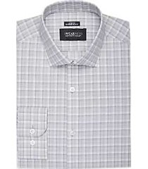 awearness kenneth cole gray plaid extreme slim fit dress shirt