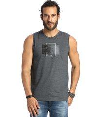 camiseta vlcs regata gola redonda cinza
