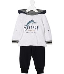 lapin house hoodie tracksuit set - blue