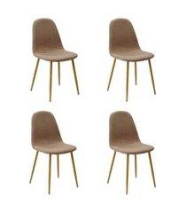 conjunto de 4 cadeiras tania i caqui