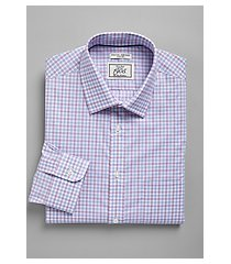 1905 collection slim fit spread collar natte grid repreve® dress shirt, by jos. a. bank