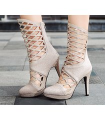 ps400 sweet caged booties, high heels, us size 2-10, gold