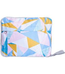 bolso convertible triangulos color blanco, talla uni