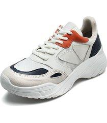 tenis blanco-azul-naranja via marte