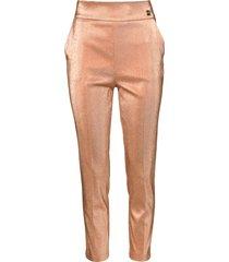 pantalon met glitter effect sparkle  roze