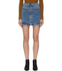 'isabel' zip denim skirt