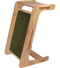 mesa auxiliar com arranhador work oliva charlie pet bege