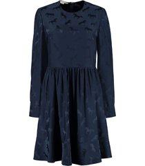 stella mccartney horse motif jacquard dress