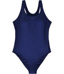 traje de baño deportivo clásico azul marino samia