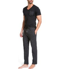 jared lang pajama set in gift box - lightning bolts