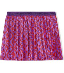 gucci purple and red skirt