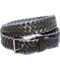 cinturon frank pierce correa trenzada y2002 - negro