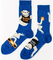yellow owl workshop men's sloth life crew socks