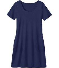 jersey-jurk van bio-katoen, marine 40/42