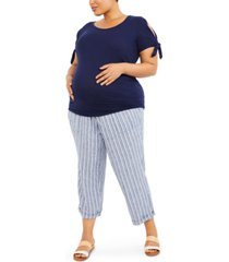 motherhood maternity plus size under-belly pants