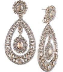 marchesa crystal filigree chandelier earrings