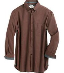 joseph abboud rust houndstooth cotton and cashmere classic fit sport shirt