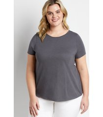 maurices plus size womens 24/7 gray knot back tee