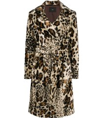 steffen schraut leopard-print belted coat - neutrals