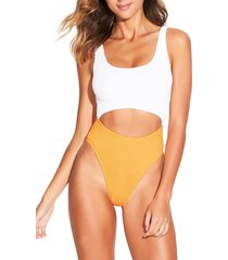women's bound by bond-eye the mishy high cut ribbed one-piece swimsuit