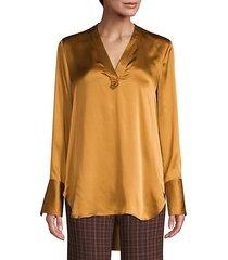 blaze silk satin blouse