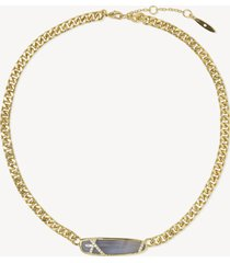 women's 18 stone necklace gold one size from sole society