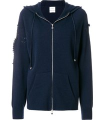 barrie romantic timeless cashmere hoodie - blue
